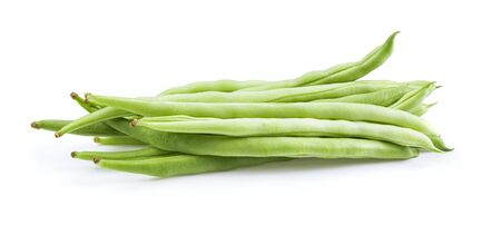 long beans isolated on white background.full depth of field