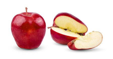 Fresh red apple isolated on white background. full depth of field