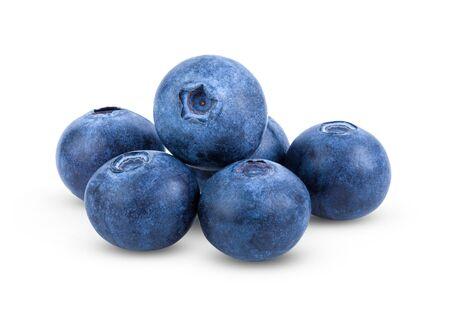 Fresh blueberry isolated on white background . full depth of field
