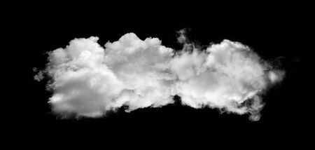white clouds or smoke isolated on black background