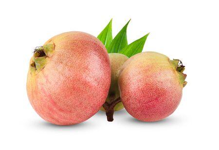 Syzygium jambos or rose apple isolated on white background Stock Photo
