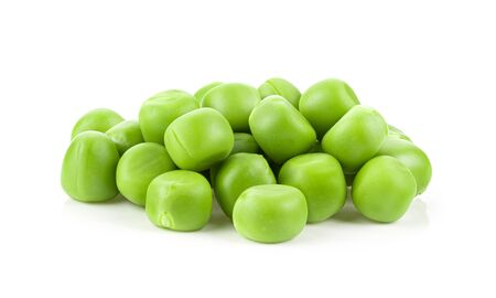 Green peas isolated on white background