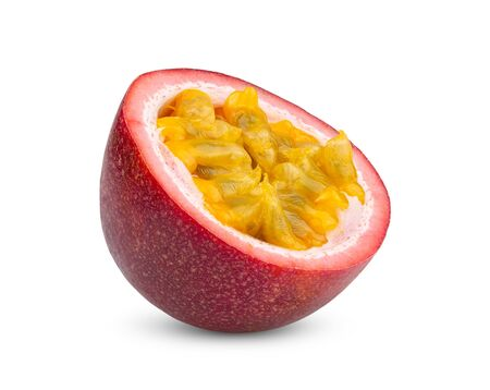 Passion fruit isolated on the white background. full depth of field