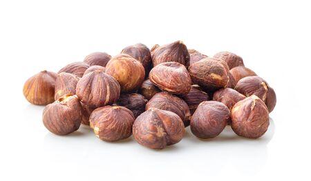hazelnuts isolated on white background Archivio Fotografico