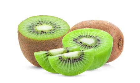 slice kiwi fruit isolated on white background