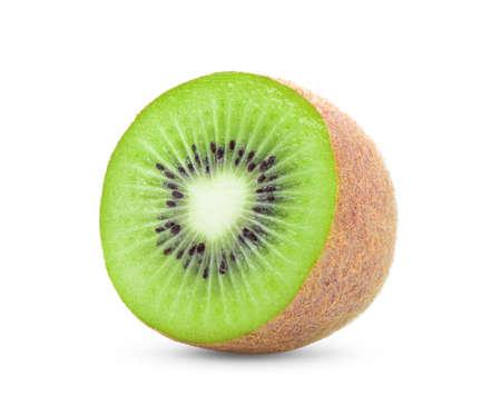 half kiwi fruit isolated on white background Reklamní fotografie