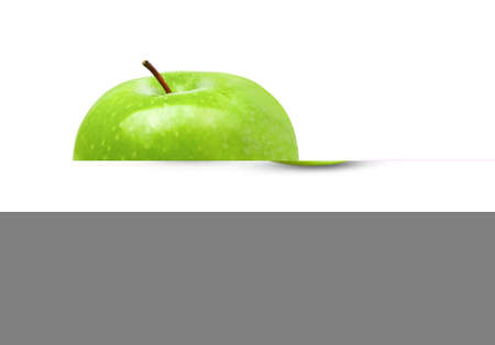 Green Apple Isolated on White Background in Full Depth of Field