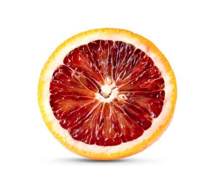 Red blood oranges isolated on white background. Zdjęcie Seryjne