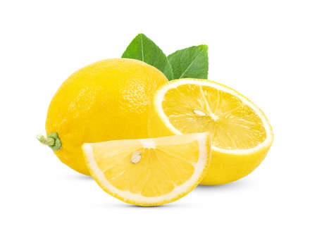 lemon isolated on white background Banque d'images