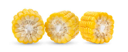 Sweet corn isolated on white background Foto de archivo