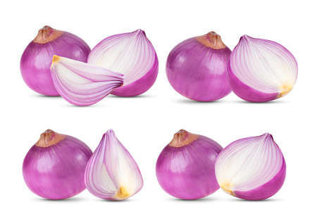 Red onion isolated on white background Foto de archivo
