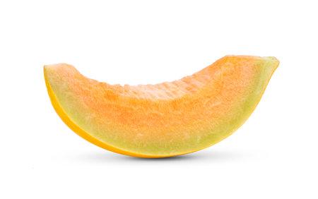 cantaloupe melon isolated on white background Foto de archivo