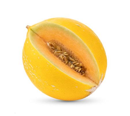 melon isolated on white background Foto de archivo