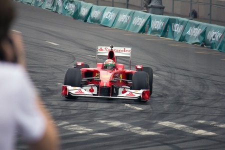 Ferrari race car team, Demonstration rides in the traditional show Moscow City Racing 2012