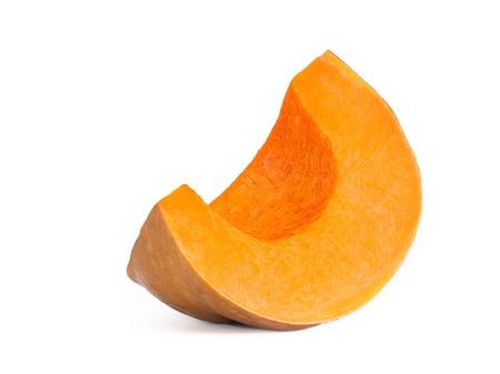 Кусочек спелого апельсина тыквы на белом фоне Фото со стока - 17380481
