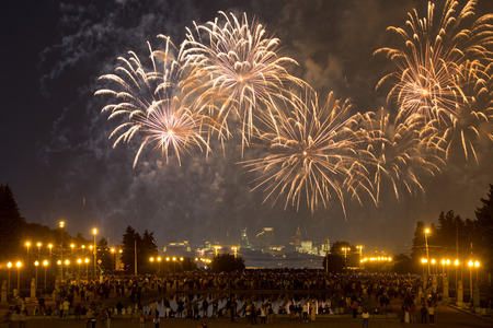 gory: Moscow Festival Internazionale di fuochi d'artificio sul Vorobyovy Gory