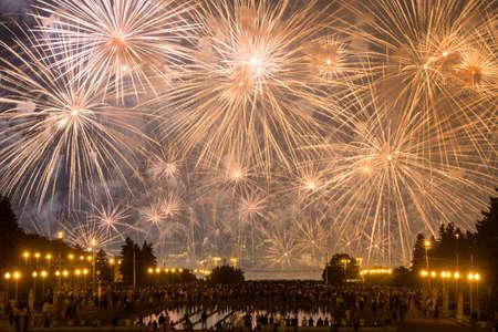gory: Moscow International Festival of fireworks on Vorobyovy Gory