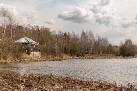Весенний пейзаж на реке Пехорка