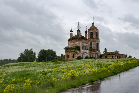The temple Flora and Monastery in Kibol, the Vladimir region, the Suzdal district