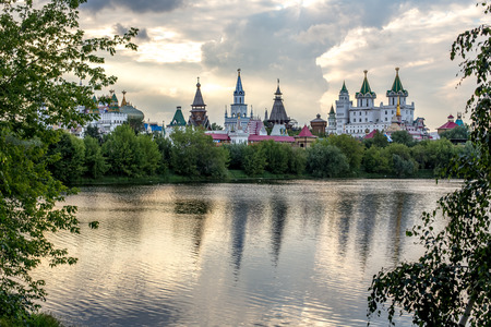 Summer view of the Izmaylovsky Kremlin from the estate Izmailovo
