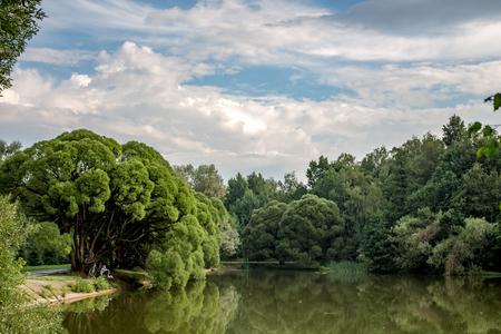 Summer pond in the Izmaylovsky park