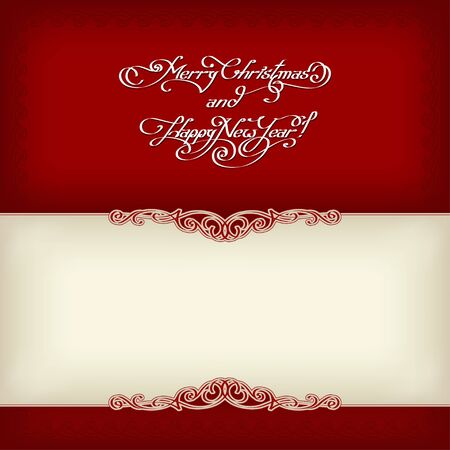 calligraphic vintage frame celebration, xmas Vector