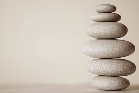 Stone stack in sepia