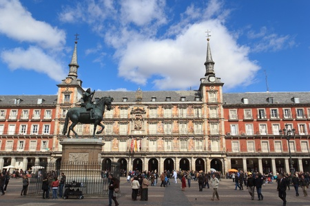 Madrid - Plaza Mayor 新聞圖片