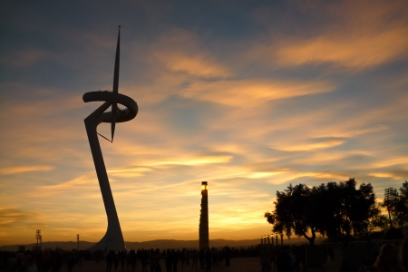 Sunset at Barcelona Stock Photo - 15520922