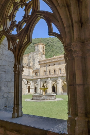 grandiose: The Monastery of St  Mary of Irantzu, a grandiose Cistercian abbey built between the twelfth and fourteenth centuries