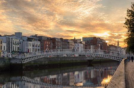 The Halfpenny Bridge in Dublin