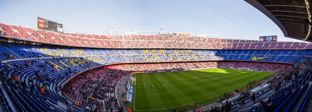Camp Nou is a football stadium in Barcelona, Catalonia, Spain, which has been the home of Futbol Club Barcelona since 1957 The Camp Nou seats 99,786, reduced to 96,336 in matches organized by UEFA,  making it the largest stadium in Europe and the 11th lar