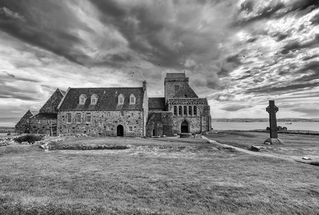 Iona Abbey is located on the Isle of Iona, just off the Isle of Mull on the West Coast of Scotland