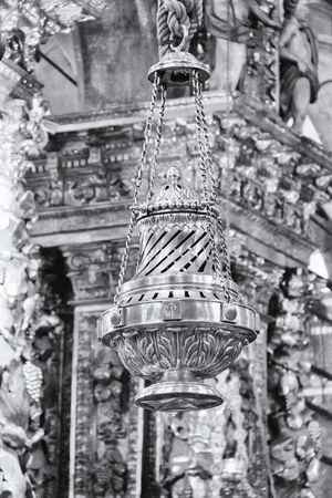 The Botafumeiro is a famous thurible found in the Santiago de Compostela Cathedral. photo