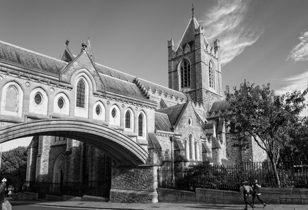religiosity: Christ Church Cathedral is the cathedral of the United Dioceses of Dublin and Glendalough Stock Photo