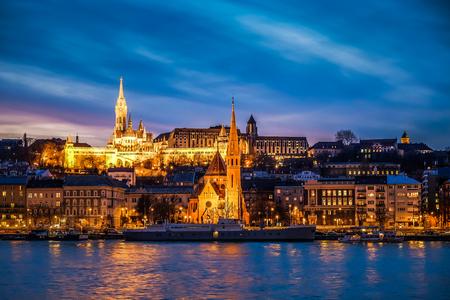 A strange sunset in Budapest - Photo taken from Hungarian Parliament 版權商用圖片