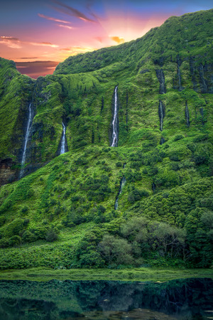 Waterfalls in Flores Island