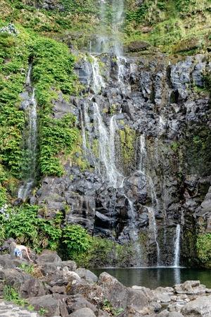 Codfish Pool Waterfalls 版權商用圖片