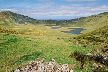 Big crater with lagoons - Azores Islands 版權商用圖片