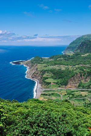The western coast of Flores - Azores Islands 版權商用圖片