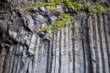 Hexagon Volcanic cliffs in Iceland Stock fotó