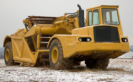 Large yellow earth mover