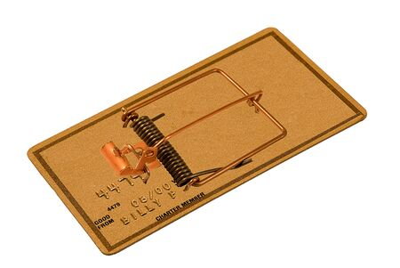 Credit card mouse trap