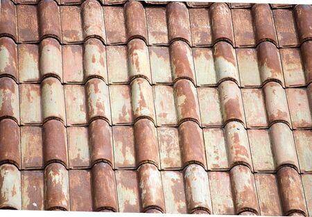 Metal roof tiles in a vertical pattern