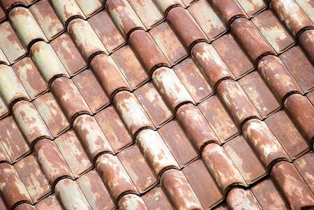 Background of metal roof tiles