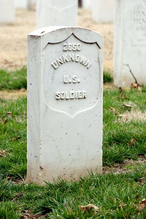Tombstone of an unknown U S Soldier