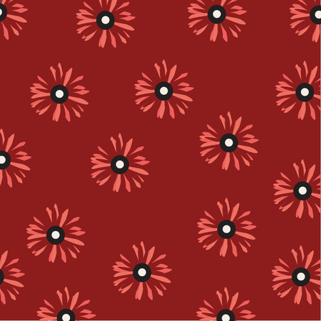 pink daisy: pink daisy flowers pattern on red background