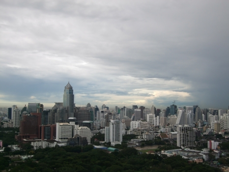 BANGKOK - AUGUST 31, 2012 -  The city sky after storm.