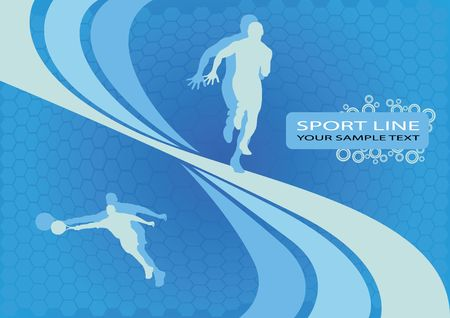 youth culture: sport lines design vector on blue background