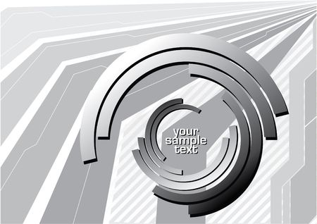 abstract perspective vector with gray elements and white text photo